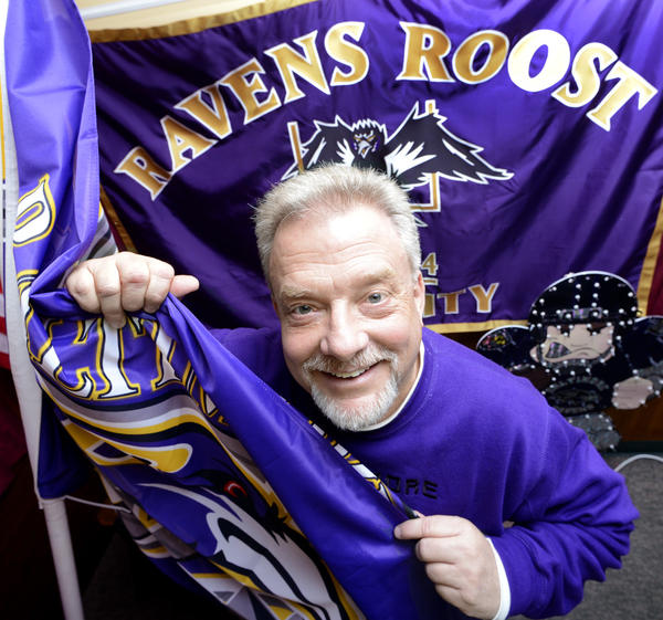 Baltimore Ravens fan Jeff Cline hasn't shaved his goatee since his team has been winning.