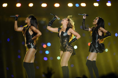 Beyonce performs during the halftime of Super Bowl XLVII at the Mercedes-Benz Superdome in New Orleans, Louisiana, Sunday, February 3, 2013. (