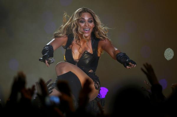 Beyonce performs during half-time of NFL Super Bowl XLVII in New Orleans.