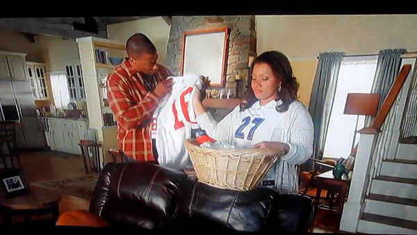 "The woman who washed a ""Joe Montana stain"" off her husband's jersey, then whispered, ""Go Ravens,"" in a Tide commercial."