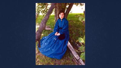 Ariellia Miller in her Civil War re-enactment costume last summer.