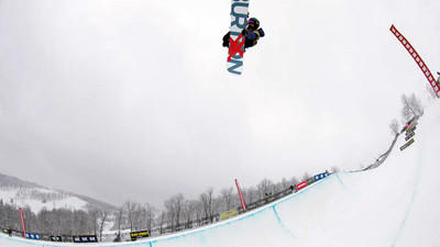 Taylor Gold wins first place in men's halfpipe for this run at the Burton U.S. Open Snowboarding Qualifiers.