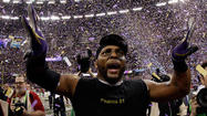 "Ray Lewis' Ravens held on for dear life, a seemingly certain <a href=""http://www.baltimoresun.com/superbowl/"">Super Bowl</a> victory only a few yards from slipping away."