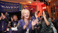 Baltimore Ravens fans celebrate Super Bowl in Ellicott City [Pictures]