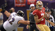 A reeling Ravens' defense managed to survive the electrifying comeback attempt led by dynamic San Francisco 49ers quarterback Colin Kaepernick despite being pushed to the brink of exhaustion by his high-octane style.