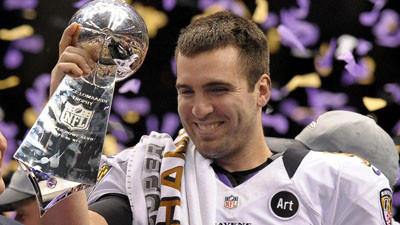 Baltimore Ravens win Super Bowl, defeating San Francisco 49ers,…