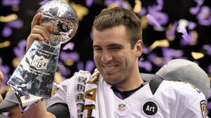 'Comfortable' Joe Flacco lets his play do talking in Super Bowl