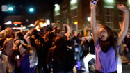 VIDEO Ravens fans flood streets in Towson