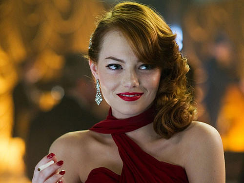 "As a cigarette-smoking 1940s mafioso's paramour in ""Gangster Squad,"" Emma Stone reveals an improbably pearly white smile."