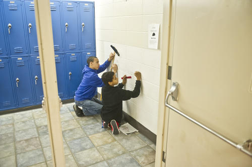 Photo Gallery: Bate Middle School Murals