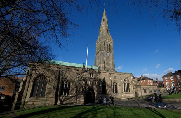 The recently uncovered skeleton of King Richard III is to be re-interred at Leicester Cathedral, officials said, in keeping with archaeological practice to bury remains on the nearest consecrated ground.