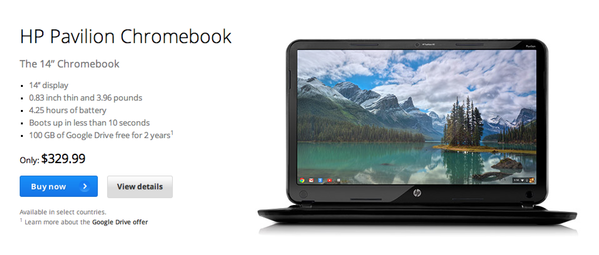 HP officially introduced its first Chromebook laptop, the Pavilion, Monday morning.