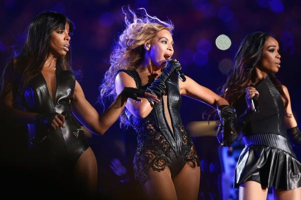 From left, Kelly Rowland, Beyonce Knowles and Michelle Williams of Destiny's Child perform during the Super Bowl XLVII Halftime Show on Sunday.