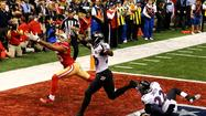 Michael Crabtree never had a chance to make a catch in the end zone on what turned out to be the San Francisco 49ers' last play of Super Bowl XLVII, a 34-31 loss to the Baltimore Ravens.