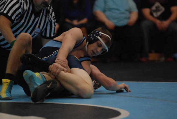 Petoskey junior Nick Strobel won the Big North Conference individual title at 145 pounds Saturday in Alpena as he finished with a perfect 5-0 record.