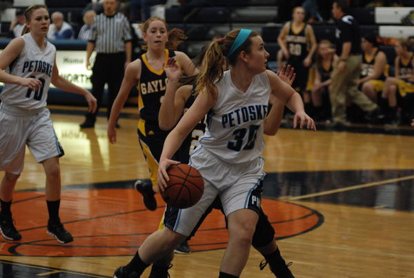 Petoskey senior guard Alyssa VanWerden had a career-high 13 points Friday as the Northmen rolled past Traverse City Central, 65-20, in a Big North Conference contest.