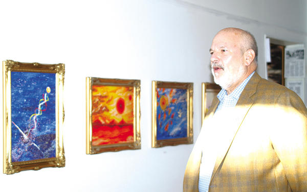 Hagerstown City Councilman Lewis Metzner attended a student art reception Dec. 15 for Romanian artist Elleny Pendefunda at Contemporary School of the Arts and Gallery Inc. in downtown Hagerstown.