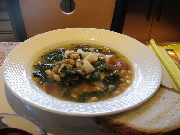 Kale, White Bean And Potato Soup