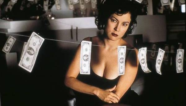 "Jennifer Tilly in ""Bound."""