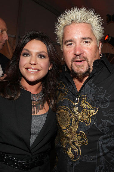 "Hosts of ""Rachael vs. Guy: Celebrity Cook-Off"" Rachael Ray and Guy Fieri."