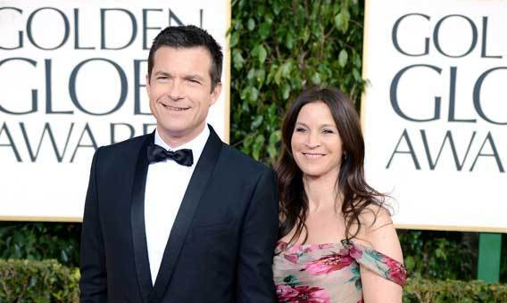 Jason Bateman and Amanda Anka arrive at the Golden Globe Awards in January.