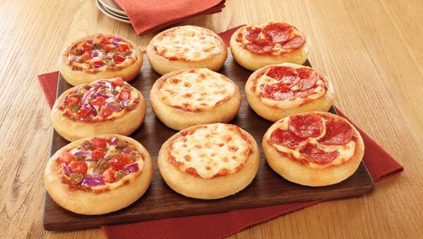 Pizza Hut's new pizza sliders are 3.5 inches in diameter.