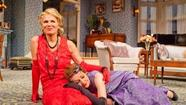 "Shrug off that fur, have a cocktail and dish the dirt with ""Fallen Angels,"" Art Manke's irresistible production of a rarely seen Noel Coward comedy, now at the Pasadena Playhouse."