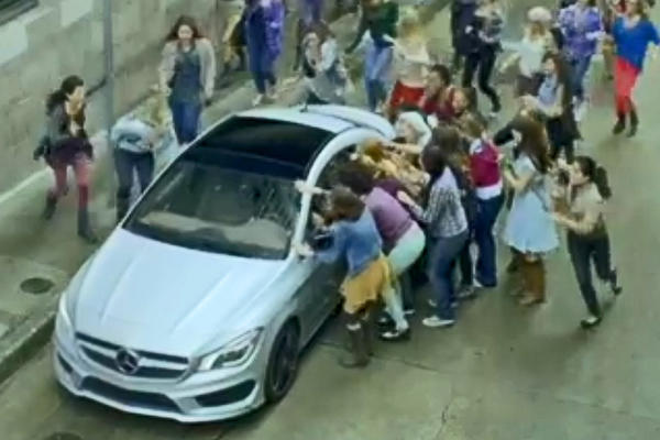 A screengrab from Mercedes-Benz's Super Bowl ad shows the all-new CLA250. Edmunds.com reports the ad boosted interest in Mercedes by 122%.