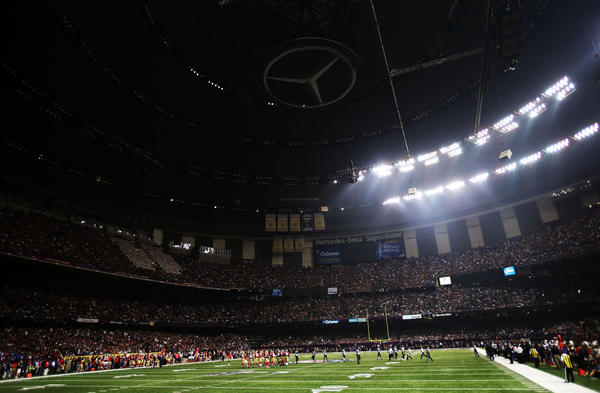 A partial power outage during the third quarter caused a 34-minute delay in the game during Super Bowl XLVII at the Mercedes-Benz Superdome in New Orleans. Brazilians, facing questions about their ability to mount back-to-back World Cup and Olympics games, were gleeful about the NFL's stumble.