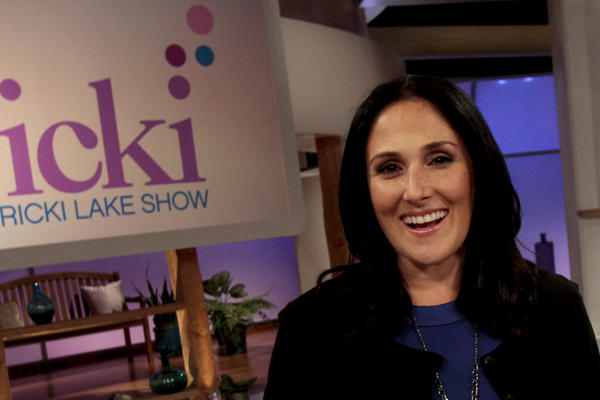 "Ricki Lake poses for a portrait on the set of her daytime talk show, ""The Ricki Lake Show,"" at the Culver Studios in Culver City."