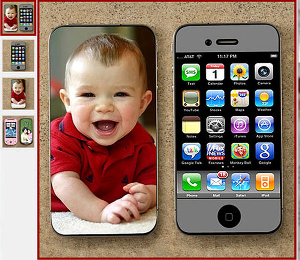 "A cool way to keep those loved ones close by with a personalized cell phone Design-a-Skin. Choose any precious photo, image or graphic to create a decorative cover that fits your love one's style.<br> <br> <b><a href=""http://www.personalizationmall.com/"" target=new>personalizationmall.com</a>  $14.95</b>"