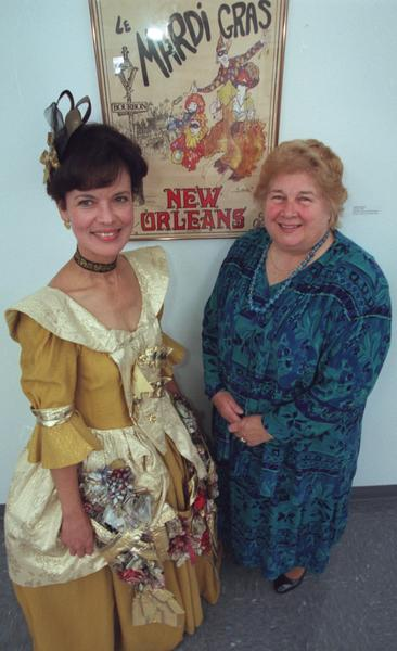 "Barbara Caldwell is serving as hostess for the Mardi Gras fund-raiser for the Banana Factory in Bethlehem. Marlene "" Linny "" Fowler (right) will be honored at the June 12, 1999 event for her contributions to the Banana Factory."