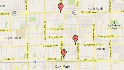 Three Oak Park businesses were burglarized within 12 hours