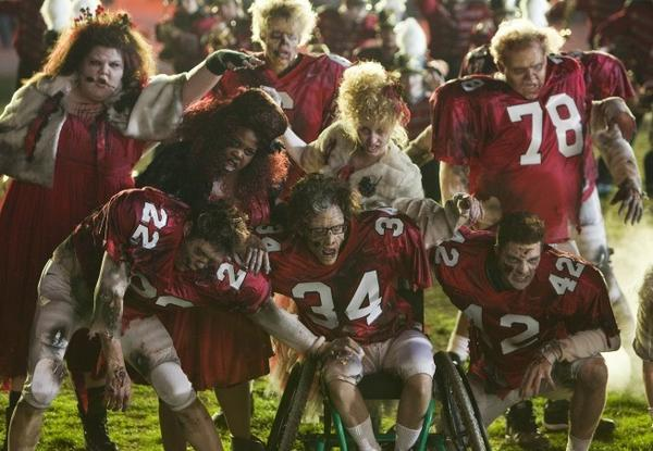 Best & Worst: Post-Super Bowl TV: The plot: When cheerleading coach Sue Sylvester (Jane Lynch) withdraws her squad from the halftime show of a championship football game, the glee club and the football players must come together to perform a routine and win the game.  How many watched: 26.8 million  Touchdown or fumble? Definitely a touchdown for Glee, more than tripling its typical ratings. As far as a post-Super Bowl show goes, its not too bad -- bigger than some, not as big as others.  -- Andrea Reiher, Zap2it