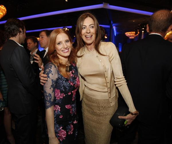 """Zero Dark Thirty"" lead actress nominee Jessica Chastain and director Kathryn Bigelow."