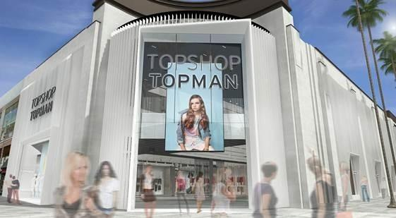 Topshop, Topman and See's Candies are opening at the Grove.