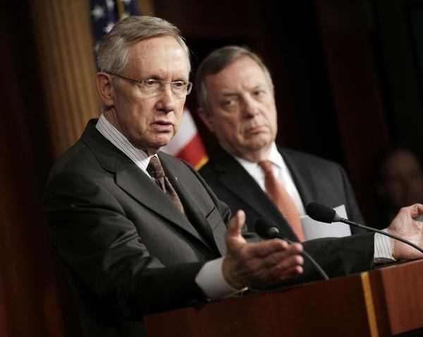 Senate Majority Leader Harry Reid (D-Nev) and Sen. Dick Durbin (D-Ill.)