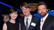 Anne Hathaway, Tom Hooper and Hugh Jackman