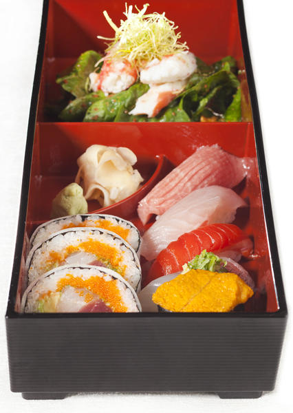 The High Roller bento box at Nobu Matsuhisa's Nobu Hotel in Las Vegas.