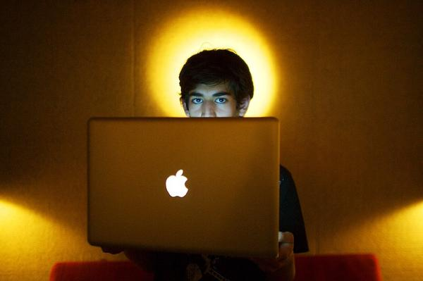 Internet activist Aaron Swartz, shown Jan. 30, 2009, photo, killed himself last month.