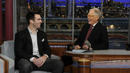 Letterman asks Super Bowl MVP Joe Flacco about contract, power outage, deer antler spray