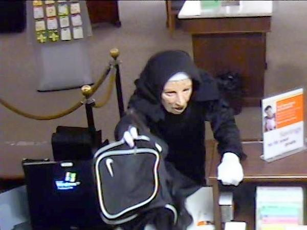 An image of one robber in the 2011 heist at a Palos Heights bank.