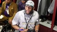 Inside linebacker Ray Lewis ran through the gamut of emotions after the Ravens won Super Bowl XLVII on Sunday night, but former teammate Trevor Pryce thought he displayed one major emotion during the game.