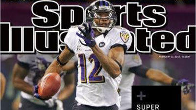 Ravens' Jacoby Jones makes Sports Illustrated cover