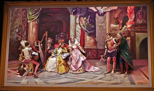 "The Pageant of the Masters' re-creation of ""Galileo at the Court of Isabella"" from the 2012 show."
