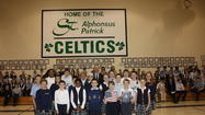 "U.S. Rep. Dan Lipinski (IL-3) marked National Catholic Schools Week by visiting St. Alphonsus/St. Patrick School in Lemont. The congressman toured several classrooms, talked with students about his experience in Catholic schools, and answered their questions about his work as their representative. He also spoke to a school assembly on the importance of education and presented St. Alphonsus/St. Patrick Principal Renee Payne with an American flag flown over the U.S. Capitol building, along with a copy of a congressional resolution honoring Catholic schools for the ""key role they play in promoting and ensuring a brighter, stronger future for our nation."""