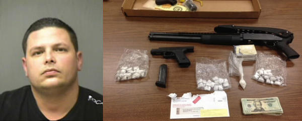 Norwich Police said they arrested Matthew Blancha and confiscated weapons, money, and drugs.