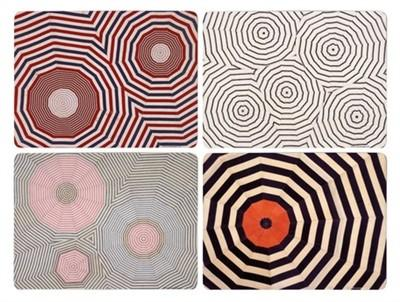 Artware Editions has put four of French-American artist Louise Bourgeois' textile designs on cork board placemats.