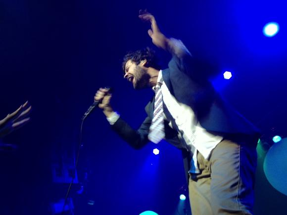 Michael Angelakos of Passion Pit gets in the groove at The NorVa Feb. 4, 2013.