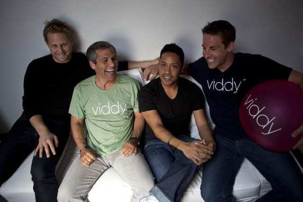 Viddy, which has been one of the hottest Los Angeles startups, has dropped chief executive Brett O'Brien, second from left.
